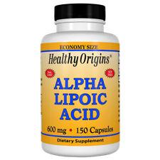 Healthy Origins Alpha Lipoic Acid, ALA - 600mg x 150 Capsules