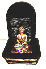 Buddha Indoor Tabletop Electric Brown Water Fountain Water Color Changing Light