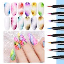 6Pcs/Set BORN PRETTY Water Color Painting Pen Nail Art Blossoming Gel Polish DIY