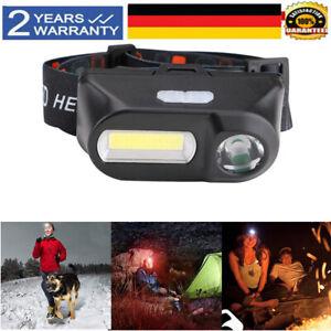 Super Hell LED Stirnlampe USB Akku Scheinwerfer Kopflampe Taschenlampe Headlampe
