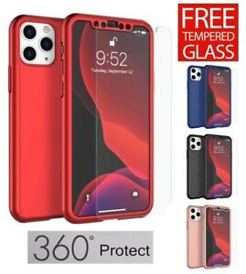 For iPhone 12 12 Pro Max 12 Mini 360° Full Body Shockproof Slim Case Cover