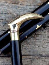 Brass Handle Walking Stick Cane Golden Vintage Wooden Sticks Camping & Hiking