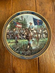 "Bradford Exchange Plate ""Gallant Men of the Civil War"" - Ben Hardin Helm"