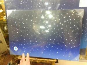 1 Carré Lumineux Ciel Etoilé Cm40x60x2,5 Effet Étoiles Fibre Optique Nativité