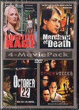 4 Movies: Fugitive Rage, Merchant of Death, October 22, Other Voices (DVD)
