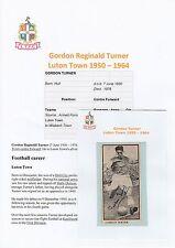 GORDON Turner LUTON TOWN 1950-1964 MOLTO RARA ORIG mano firmato RIVISTA taglio