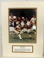 GALE SAYERS Chicago Bears Autographed Signed 8X10 Photo Matted 12 x16 w/tribute