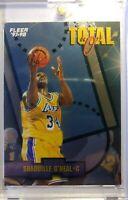 1998 97-98 Fleer Total O Shaquille O'neal #9, Insert, Los Angeles Lakers, HOF