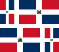 Adesivo Sticker REPUBBLICA DOMINICANA Mappa-Bandiera Hispaniola Dominicana