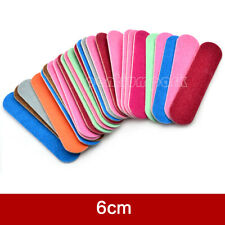 100x Random Color Double Sided Nail Files Disposable Sanding Mini Manicure Tools