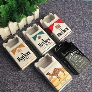 Marlboro Ceramic Vintage Tobacco Cigarette Box shaped Ashtray Ash Tray designed