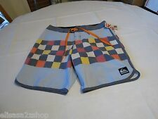 OG Scallop Print 38 Men's Quiksilver surf board shorts trunks swim checkerboard