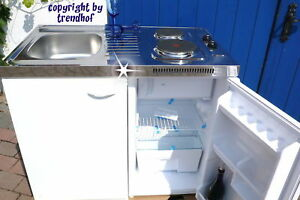 Komplette Küche Miniküche SINGLEKÜCHE Pantryküche Büro Kühlschrank Spüle Schrank