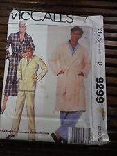 1980's VTG McCall's Men's Robe Pajamas Pattern 9299 Size Ex-Large Uncut