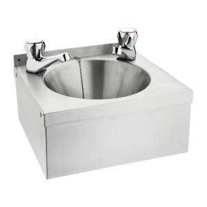 Vogue Mini Hand Wash Basin Made of Stainless Steel with Plug and Chain Model A