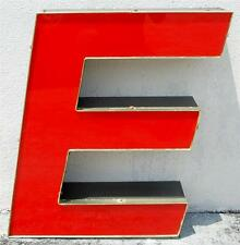 BROWN RED LED OUTDOOR INDOOR LARGE ACRYLIC ADVERTISING SIGN LETTER E