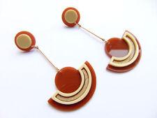Retro Mode-Ohrschmuck aus Acryl für Damen