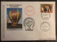 1999 Vienna Austria First Day Balloon Airmail FDC Cover Via St Hainersdorf