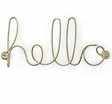 Umbra WIRED Wall Decor HELLO BRASS