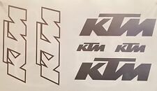 6 KTM Decal Decals Stickers Graphics SX SXF XC EXC MXC MX Moto Motocross
