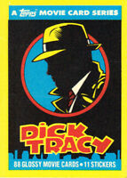 Dick Tracy Movie Master Set w/ Complete 88-Card + 11-Sticker Sets (Topps,1990)!