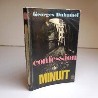 Georges DUHAMEL 1970 Confession de minuit littérature roman France N6898