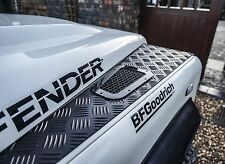 Land Rover Defender Bespoke stainless steel Hurricane wing top vents uproar 4x4