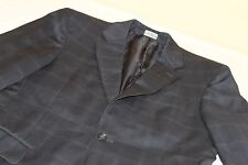 JOS A BANK Signature Collection Windowpane Plaid Gray Suit 38 R 100% Wool