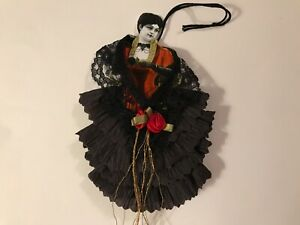 Paper doll Vintage Halloween ornaments, Witch item# 38