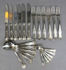 Vintage SUPER INOX Kings pattern CUTLERY CANTEEN SET for 6: knives forks spoons.