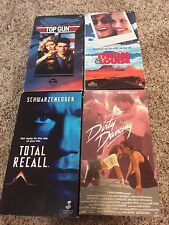 Vintage Lot of VHS Movies Top Gun Thelma Louise Dirty Dancing Total Recall