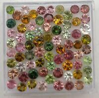Natural Tourmaline Round Cut Loose Gemstone Lot 100 Pcs 3 MM