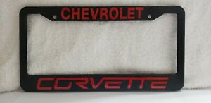 Chevy Corvette License  Plate Frame