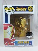 Marvel Funko Pop - Iron Man (Gold Chrome) - Avengers Infinity War - No. 285