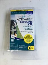 TevraPet Activate II Flea and Tick Topical, Extra Large Dogs 55 Plus Pounds, 4