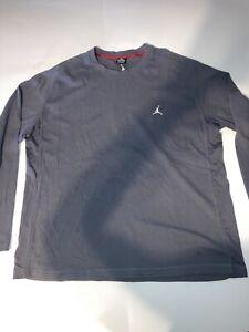 Men's Air Jordan Long Sleeve Embroidered Logo Grey Thermal Shirt Size 3XL