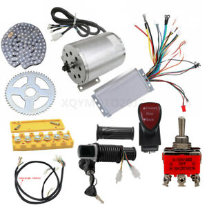 Electric Go kart 1800W 48V Brushless Motor Speed Controller Throttle Pedal Wire