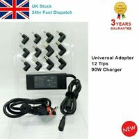 Universal 90W Laptop Power Supply Charger 15V-20V AC/DC Adapter For HP Lenovo UK