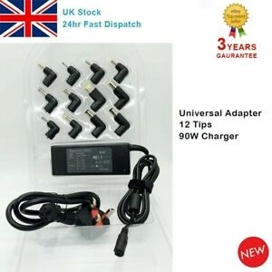 Universal 90W Laptop Power Supply Charger 15V-20V AC/DC Adapter For HP Lenovo UK