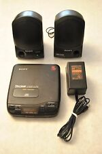 SONY D-34 DISCMAN COMPACT CD PLAYER WALKMAN Sony AC-96ND Power Supply Speakers
