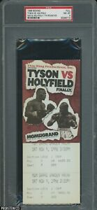 Nov. 9th 1996 Mike Tyson vs Evander Holyfield Boxing Match FULL Ticket PSA 8
