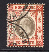 Hong Kong 1904-07 20 Cents Used Stamp (609)