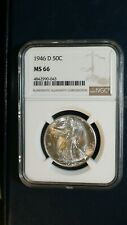 1946 D Walking Liberty Half NGC MS66 GEM UNCIRCULATED 25C Coin BUY IT NOW!