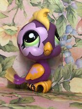 Littlest Pet Shop Bird cockatoo #1962 Nintendo DS Purple Flower Green Eyes Rare