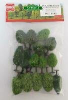 BNIB BUSCH 6585 N GAUGE 15 DECIDUOUS TREES WITH ROOTS / BASES (40mm - 60mm High)