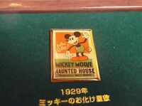 DISNEY JAPAN DAI ICHI LIFE MICKEY HAUNTED HOUSE POSTER PIN FROM MICKEY 3 PIN SET