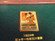 DISNEY JAPAN DAI ICHI LIFE MICKEY HAUNTED HOUSE POSTER PIN FROM MICKEY 3 PIN SET