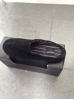 BNIB Duchamp Men's Black Suede Leather Mule Slippers. Size small uk 6 to 7