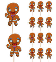 2 CHRISTMAS GINGERBREAD MAN SWIRL DECORATIONS Festive Party Decorations 20784