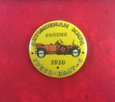 Made In USSR Pin Button Badge CARS WORLDWIDE RUSSIA RUSSO-BALT 1910 Historic Car